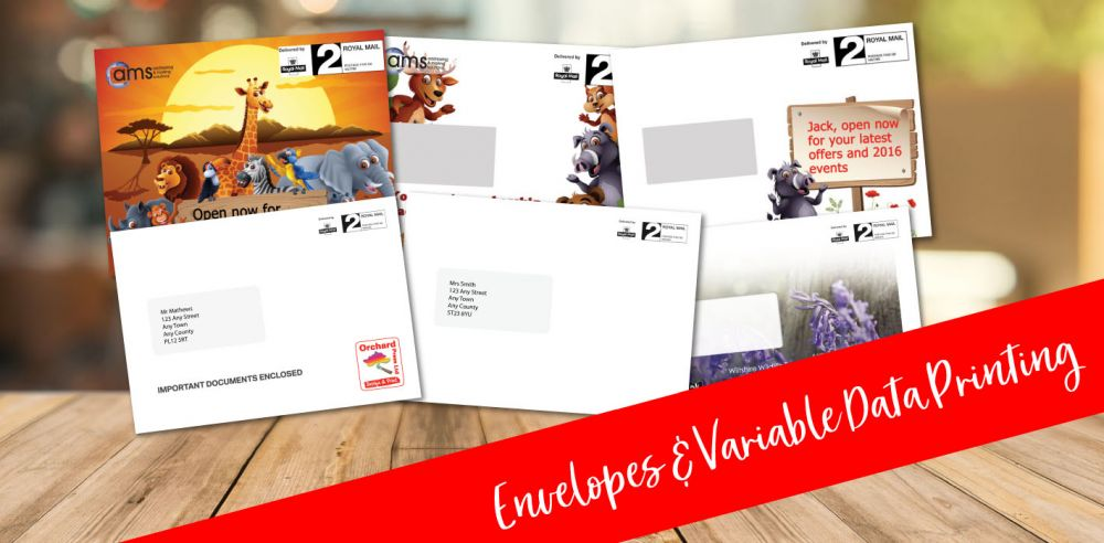 Envelopes and variable data printing